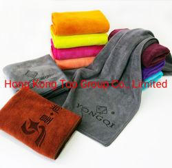 Wholesales cara Toalla de microfibra personalizadas de tejer la trama toalla para cara y el pelo, salón de belleza y el hotel. 35x75cm