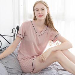 Zijde Tencel Dame Pajamas de Slijtage van de Slaap van Dame Sleep Wear Meisje
