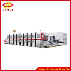 Caixa de alta velocidade na pasta Impressora Gluer Automático inline Gluer de pasta de papel da máquina a máquina máquina de embalagem