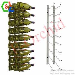 En la pared de acero inoxidable estante de vino botella de vino para rack de mostrar las espigas de Vino Vino Vino de Rack de soporte de almacenamiento soporte