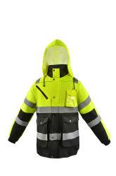 Impermeabile riflettente 100% di sicurezza del rivestimento di sicurezza dei motociclisti dell'impermeabile 300d Oxford di sicurezza impermeabile dell'unità di elaborazione del poliestere con il cappuccio