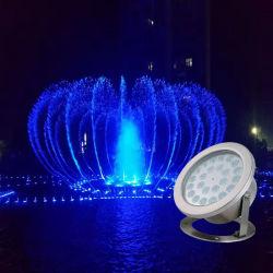 Imperméable LED RGBW DMX colorés sous la lumière de la fontaine musicale Piscine Piscine en acier inoxydable d'éclairage Spot lampe pour piscine