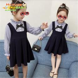 ملابس من الزهور الصيفية ذات الجودة العالية طبعت شيفن فتاة صغيرة فساتين فستان طفل الفتيات اللباس للفتيات بسعر الجملة طفل فتاة