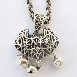 Chinese Miao Bijoux en argent Long-Lived Lock (R677)