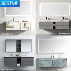 فوشان فاتنكتوي OEM ODM LED Smart Mirror مخصص الحجر الصناعي حمام الحوض خزانة الحمام بالحوض الحجري الممزق (بحلول-X8005)
