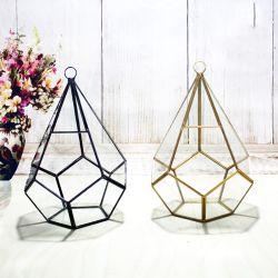 Geometrische vlezige glazen Bloemenhuis Ambachten voor Deco Kerstbruiloft