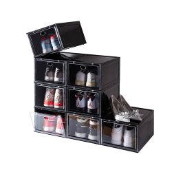 صندوق تخزين حذاء ماسي قابل للتكديس مفتوح من الجانب المغناطيسي