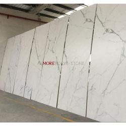 1000X3000 de 3mm de espesor delgado Extra Delgado Calcuta mirar la pared de mármol blanco de porcelana de gran tamaño de las baldosas cerámicas de piso