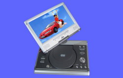 "9"" DVD Player + Analog TV, DVB-T Rec. Card Slot, USB, CD Ripping (PDVD-9092B)"