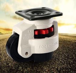 2 3 4 5 6 8 pulgadas escamoteables giratoria ajustable de nivelación de altas prestaciones industriales rueda pivotante
