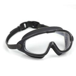Lunettes de natation, pas de fuite réglable Anti-Fog étanche UV Protection large angle de vue des lunettes de natation pour les adultes et jeunes