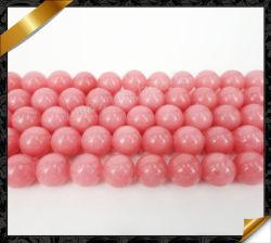 Les brins lâches de pierres précieuses perles de jade rose de gros de bijoux (GO069)