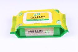 80pcs Firber Saline de bambou naturel de la peau lingettes humides de soins