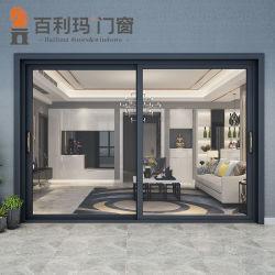 알루미늄 건축재료를 가진 내부를 위한 이중 유리를 끼우는 유리 미닫이 문