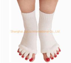 Mulher Pedicura cinco meias Toe, Cinco Toe cinco meias de ioga de Dedo, dedo do pé meias separado