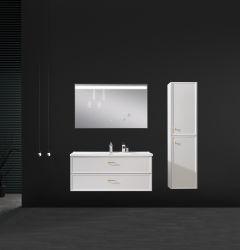 Das Beste, das europäische gesundheitliche Ware-feste Furnierholz-Badezimmer-Schrank-Eitelkeit verkauft
