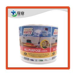 Vente de gros de lavage de vaisselle citron autocollant du rouleau de papier des étiquettes de sécurité