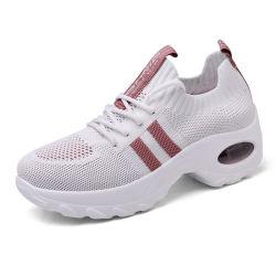 Un design moderne en usine les femmes Fly tricoté exécutant occasionnel des chaussures de sport (SXW20-2086)