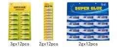 Design populares 3G*12PCS Adesivo Instantâneo super cola