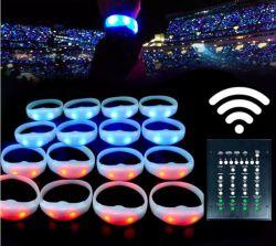 Ferngesteuertes LED Armband des hellen drahtlosen programmierbaren Silikonwristband-