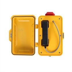 Sistema de seguridad línea Industrial de emergencia de VoIP TELÉFONO CON LÁMPARA DE LED