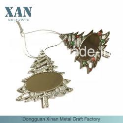 Het metaal schittert de Zilveren Geplateerde Ambacht van het Metaal van de Tegenhanger van de Gift van de Kerstboom