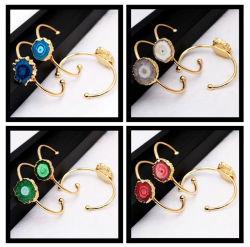 Braccialetti di pietra naturali dei braccialetti del polsino di Druzy dei braccialetti di colore dell'oro di Druzy di modo per i monili delle donne