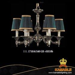 Европейском стиле ресторане отеля Lampshade латунные люстра (1710/6/160 ГБ +SH10b)