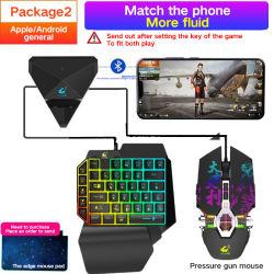 Juegos de cable mini teclado con retroiluminación LED 39 One-Handed clave Teclado mecánico para ordenador portátil para teclado juego Pubg
