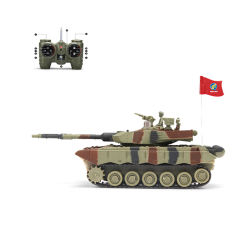 Военные Micro RC бака 1: 12 игрушка для дистанционного управления с корпуса топливного бака
