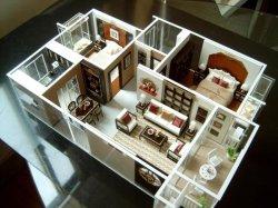 De color rojo oscuro clásico modelo de arquitectura interior haciendo