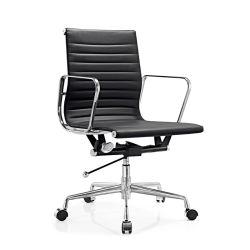 판매를 위한 옆 사무실 의자를 흔드는 까만 찰리 Dsw Ribbed 호화스러운 가죽 Eames 행정상 업무 책상 Recliner 자전 직원