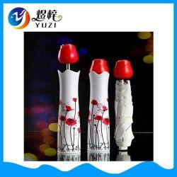 昇進の豪華なデザイン反紫外線3折るローズびんの傘