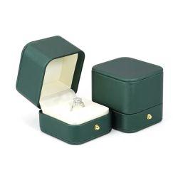 Contenitore di plastica di cuoio all'ingrosso di anello dei monili dell'unità di elaborazione piccolo per l'aggancio