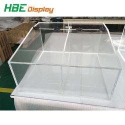 투명한 컬러 맞춤형 OEM 아크릴 유기농 유리 상자
