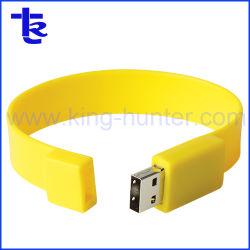 De rubber Aandrijving van de Pen van de Bestuurder van de Flits van het Geheugen van de Band USB van de Pols