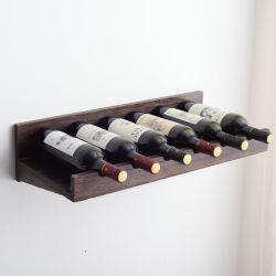Europäischer festes Holz-Wand-hängender Wein-Zahnstangen-kreativer Gaststätte-Dekoration-Wand-Wein-Schrank-Wein-Glas-Halter