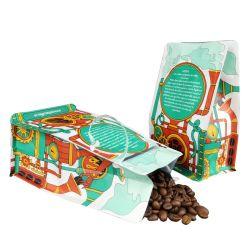 벨브를 가진 박판으로 만들어진 알루미늄 호일 Zip 자물쇠 부대 편평한 바닥 커피 주머니 매트 포일 주머니 Zip 자물쇠 1회분의 커피 봉지