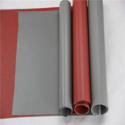 Flamme & inséré le tissu de verre résistant à la chaleur du caoutchouc de silicone