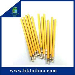 Heißer Verkauf Nutral hölzerner gelber Farbehb-Bleistift mit Radiergummi für Kursteilnehmer-Gebrauch
