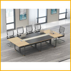 Le métal de la jambe de bois personnalisé petit rond Bureau Table de réunion pour conférence de négociation de discussion