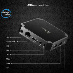 2019 Android TV X96 Mini 2.4G WiFi Smart Отт Media Player S905W телевизор в салоне 4K через USB 2.0