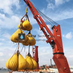 La Chine pont roulant et un palan de test de charge de sacs de poids de l'eau