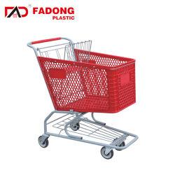 Certification Ce matériau Hdpp Chariot de supermarché de magasinage en plastique