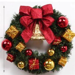 Commerce de gros guirlande décorative artificielle des couronnes de Noël en PVC de plein air gerbe de fleurs
