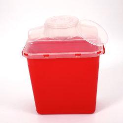 8 litre OEM de la FDA a approuvé en plastique jetables médical Biohazard des boîtes de sécurité