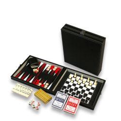 贅沢なチェスのこまセット旅行ハンドメイドの木の印刷のバックギャモンのゲーム