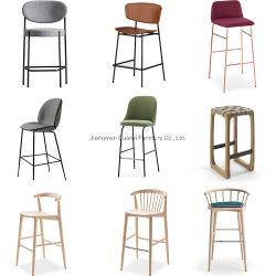 Muebles comerciales muebles modernos muebles de madera Muebles de Bar Restaurante de la barra de metal muebles taburete