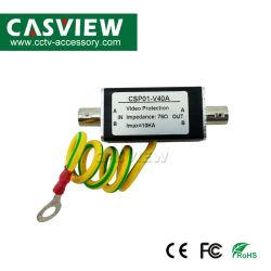 Parasurtenseur vidéo pour la protection de signal d'image caméra CCTV de protéger l'appareil de protection empêche d'alimentation Thunder boîtier en aluminium ce pare-d'éclairage