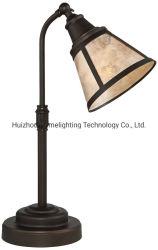 Jlt-L104 Satin Vintage bronze antique Mica ombre lampe de table de bureau